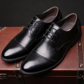 Men Soft Pointed Toe Offical Business Shoes - BLACK 40