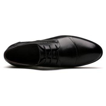 Men Soft Pointed Toe Offical Business Shoes - BLACK 42