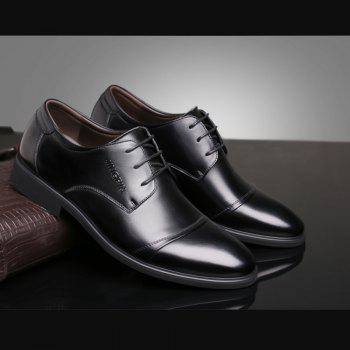 Men Soft Pointed Toe Offical Business Shoes - BLACK 38