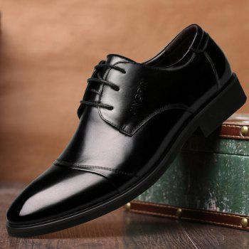 Men Soft Pointed Toe Offical Business Shoes - BLACK 39