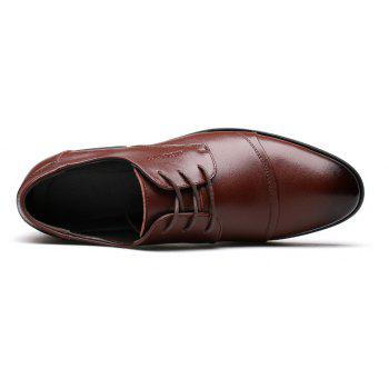 Men Soft Pointed Toe Offical Business Shoes - BROWN 40