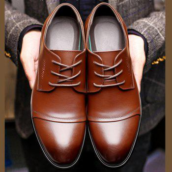 Men Soft Pointed Toe Offical Business Shoes - BROWN 42
