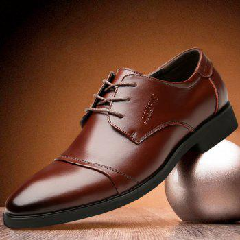 Men Soft Pointed Toe Offical Business Shoes - BROWN 41