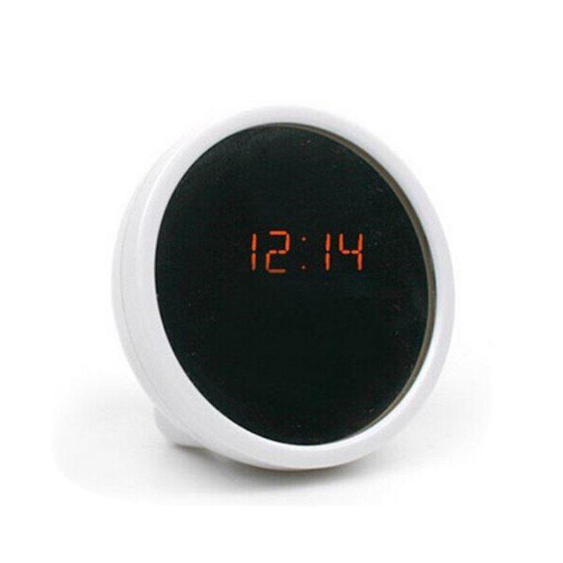 Household LED Mirror Alarm Clock - WHITE