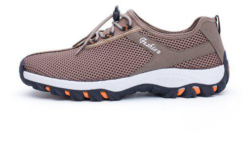 2019 Zeacava Men S Summer Fashion Breathable Mesh Shoes In Camel