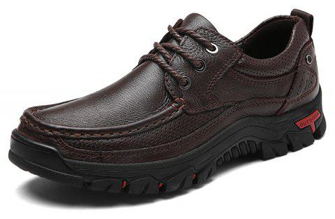 Men Casual Shoes Leather Business Shoes - SIENNA 38
