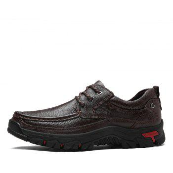 Men Casual Shoes Leather Business Shoes - SIENNA 44