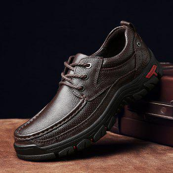 Men Casual Shoes Leather Business Shoes - SIENNA 41