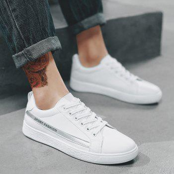 Fashion Lace Up Shoes Sprint Athletic Outdoor Casual Running Sport Sneakers - WHITE 39