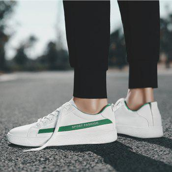 Fashion Lace Up Shoes Sprint Athletic Outdoor Casual Running Sport Sneakers - CLOVER GREEN 40