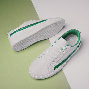 Fashion Lace Up Shoes Sprint Athletic Outdoor Casual Running Sport Sneakers - CLOVER GREEN 39