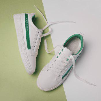 Fashion Lace Up Shoes Sprint Athletic Outdoor Casual Running Sport Sneakers - CLOVER GREEN 41