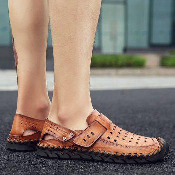 Fashion Men Beach Casual Slippers Flip Flops Summer Shoes Sport Sneakers - RED DIRT 38