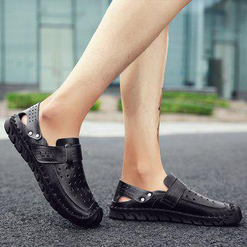 Fashion Men Beach Casual Slippers Flip Flops Summer Shoes Sport Sneakers - BLACK 40
