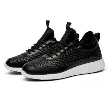 Breathable Lace Up FlatsSneakers Athletic Outdoor Casual Running Shoes - BLACK 40