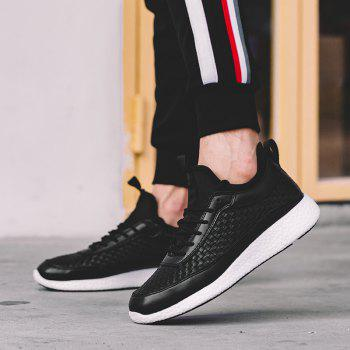 Breathable Lace Up FlatsSneakers Athletic Outdoor Casual Running Shoes - BLACK 39