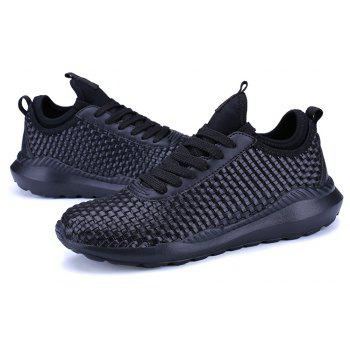 Breathable Lace Up FlatsSneakers Athletic Outdoor Casual Running Hiking Shoes - BLACK 43