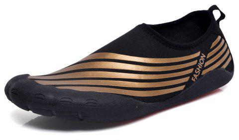 Lightweight Swimming Breathable Shoes Men Beach Shoes Comfort FlatsSneakers - DEEP BROWN 39
