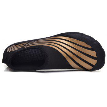 Lightweight Swimming Breathable Shoes Men Beach Shoes Comfort Flats Sneakers - DEEP BROWN 39