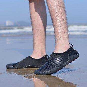Lightweight Swimming Breathable Shoes Men Beach Shoes Comfort Flats Sneakers - BLACK 45