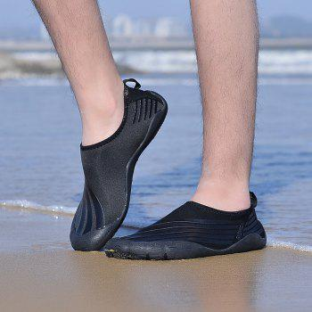 Lightweight Swimming Breathable Shoes Men Beach Shoes Comfort Flats Sneakers - BLACK 44