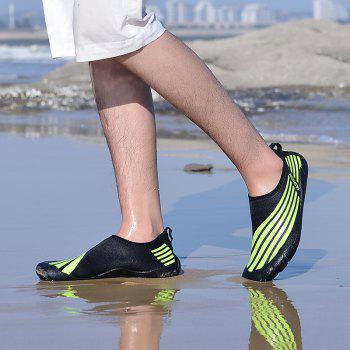 Lightweight Swimming Breathable Shoes Men Beach Shoes Comfort Flats Sneakers - PINE GREEN 43