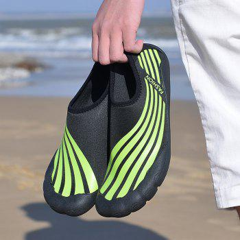 Lightweight Swimming Breathable Shoes Men Beach Shoes Comfort FlatsSneakers - PINE GREEN 46