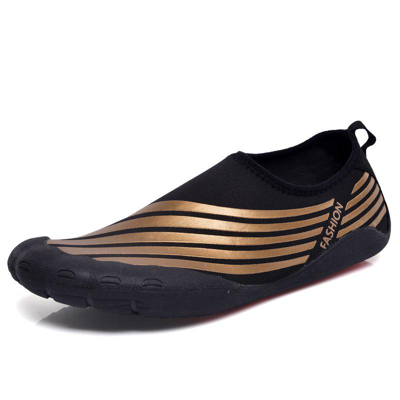 Lightweight Swimming Breathable Shoes Men Beach Shoes Comfort Flats Sneakers - DEEP BROWN 41
