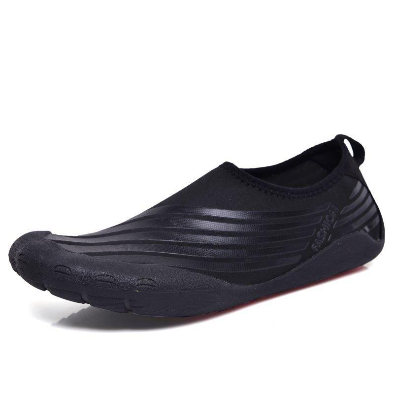 Lightweight Swimming Breathable Shoes Men Beach Shoes Comfort Flats Sneakers - BLACK 39
