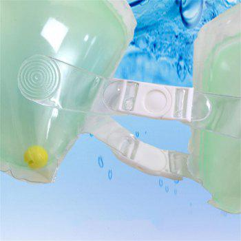 Double buckle Inflatable Child Underarm Swim Ring - GREEN THUMB