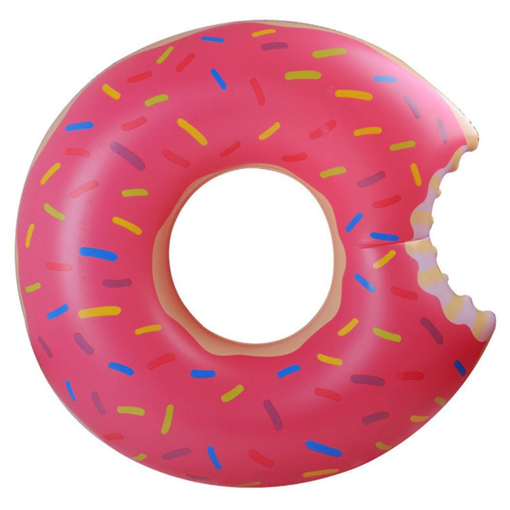 Adult Water Inflatable Donut Swim Ring - VIOLET RED