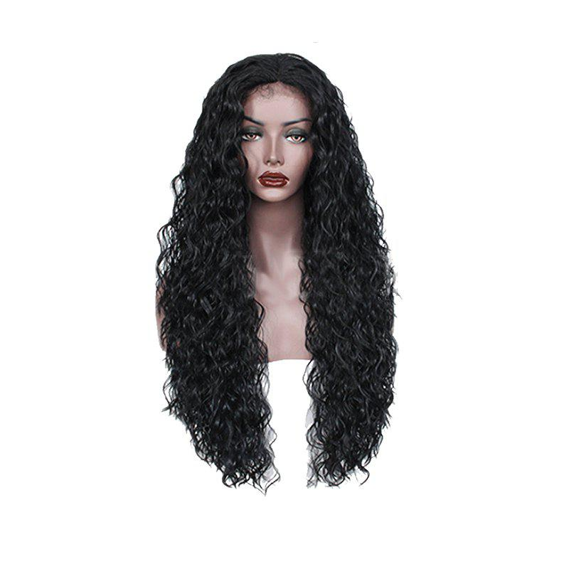 Black Curly Former Lace Wig for Women - BLACK 28INCH