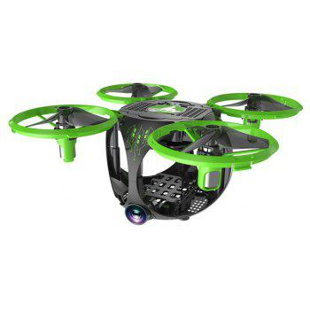 Foldable WiFi FPV RC Drone with Wide Angle Camera / Altitude Hold / Headless Mode - GREEN