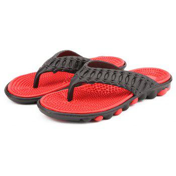 Men Stylish Beach Water Anti-slip Flip-flops Slippers - RED 44