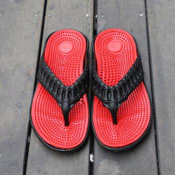 Men Stylish Beach Water Anti-slip Flip-flops Slippers - RED 43