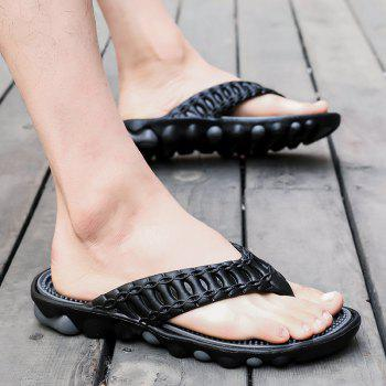 Men Stylish Beach Water Anti-slip Flip-flops Slippers - BLACK 42