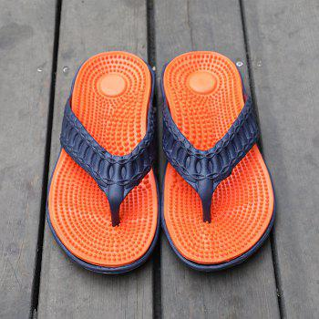 Men Stylish Beach Water Anti-slip Flip-flops Slippers - ORANGE 42