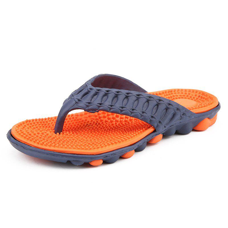 Men Stylish Beach Water Anti-slip Flip-flops Slippers - ORANGE 43