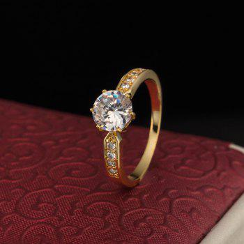 Fashion Micro-inlaid Zircon Ring J1772 - GOLD US SIZE 9
