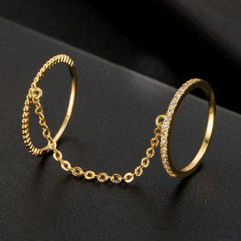 Fashion Simple Chain Double Ring J1791 - GOLD US SIZE 8
