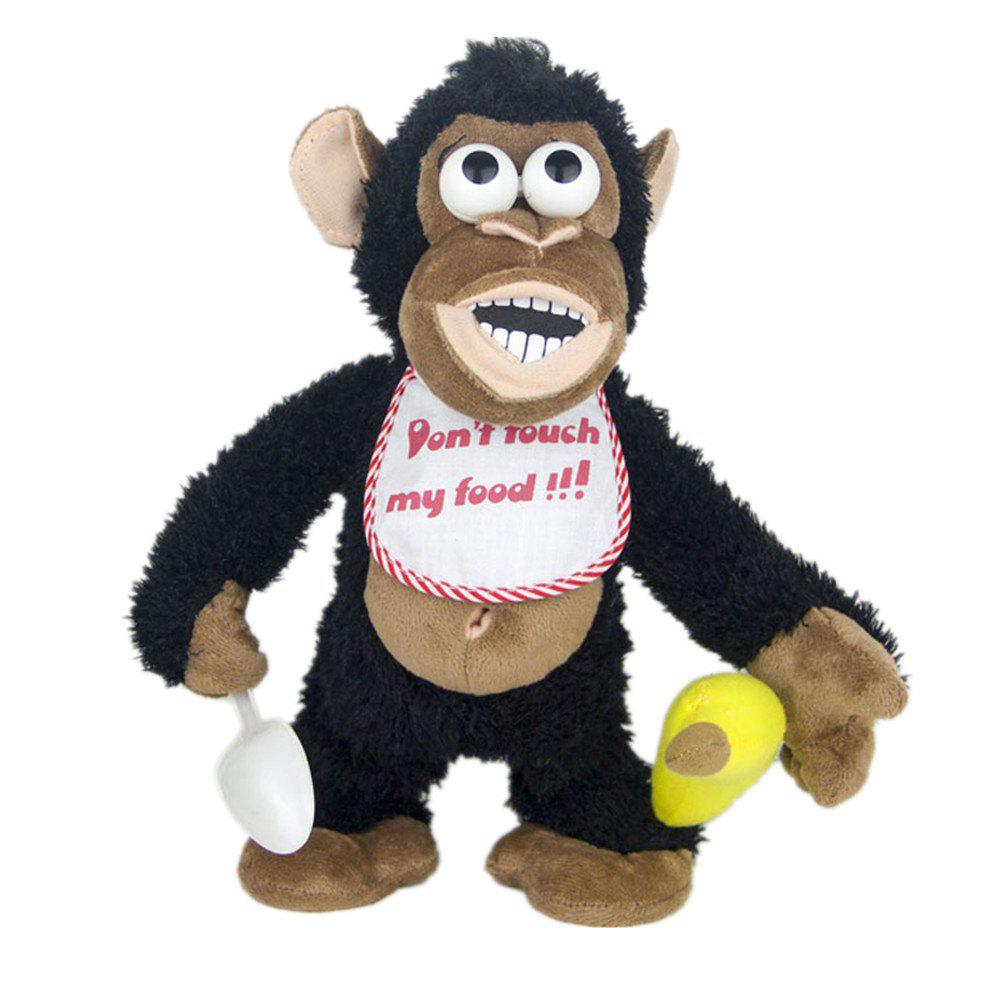 Magnetic Control Standing Monkey Electric Plush Orangutan Toys Gift for Children - NIGHT