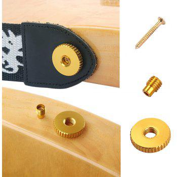 New Strap Button W/Mounting Screw for Guitar Mandolin - GOLD