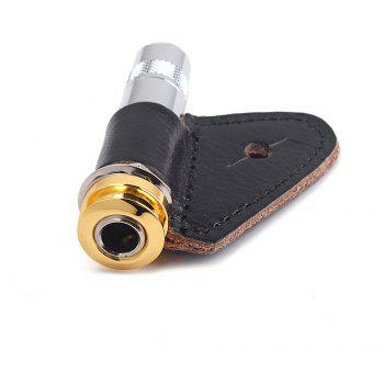 Acoustic Electric Guitar Stereo Output End Pin Endpin Jack Socket Plug with 30mm - GOLD