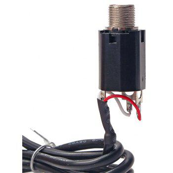 Acoustic Guitar Piezo Pickup Hookup Wire Cable 3.5mm Plug and 6.35mm Output Jack - BLACK