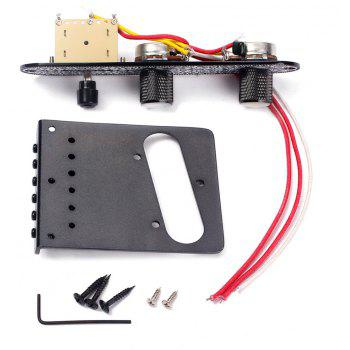 Bridge with 3 Way Switch Control Knob Plate for Electric Guitar Set - BLACK