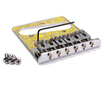 Bridge with 3 Way Switch Control Knob Plate for Electric Guitar Set - YELLOW
