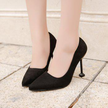 New Women Single Shoes High Heels - BLACK 40