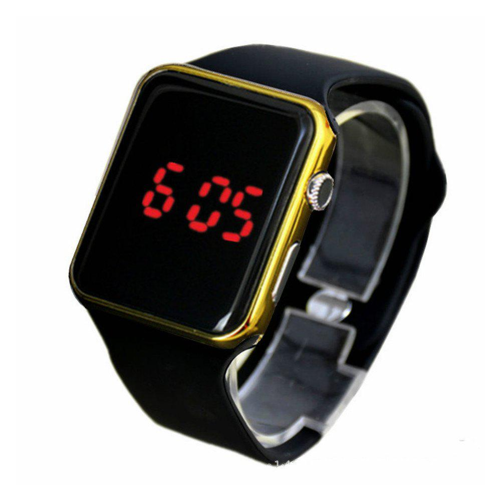 V5 Man New Fashion Digital Silicone Sports Watch - GOLD