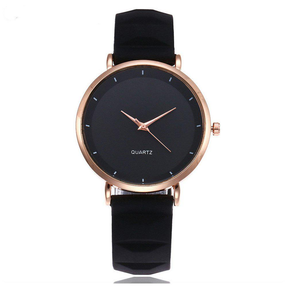 V5 Fashion Casual Lady PU Quartz Watch - NIGHT