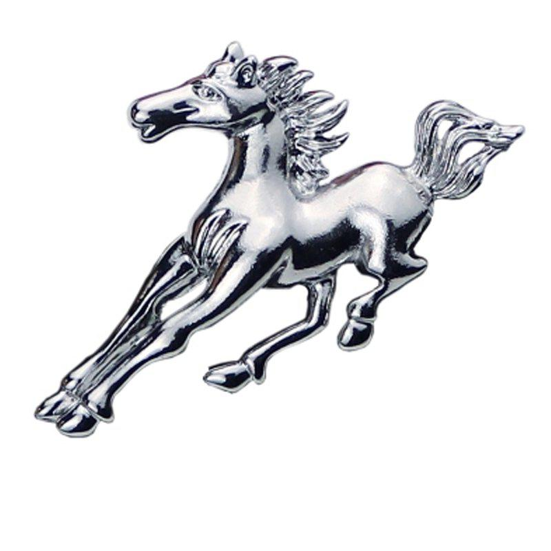 2018 New Design Fashion Men Horse Brooch Zinc Alloy Pin Suit Accessories anime style feather pattern zinc alloy brooch pin blue white silver